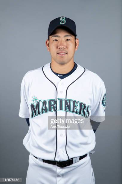 Yusei Kikuchi of the Seattle Mariners poses during Photo Day on Monday February 18 2019 at Peoria Sports Complex in Peoria Arizona