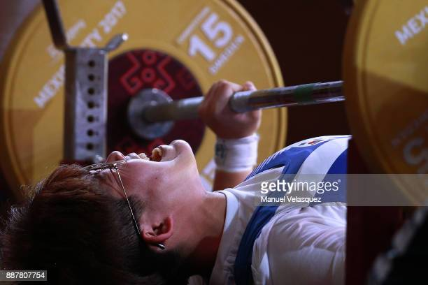 Yuseon Hwang of South Korea competes during the Women's Up to 61Kg Group A Category as part of the World Para Powerlifting Championship Mexico 2017...
