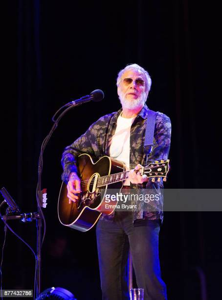 Yusuf / Cat Stevens during sound check for the first Australian performance of A cat's attic peace train tour being held at Perth Arena on November...