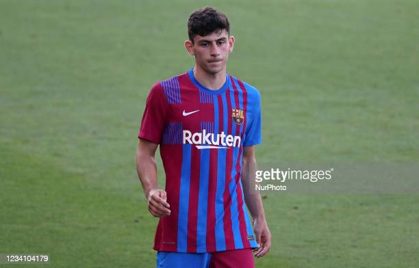 Yusuf Demir during the friendly match between FC Barcelona and Club Gimnastic de Tarragona, played at the Johan Cruyff Stadium on 21th July 2021, in...