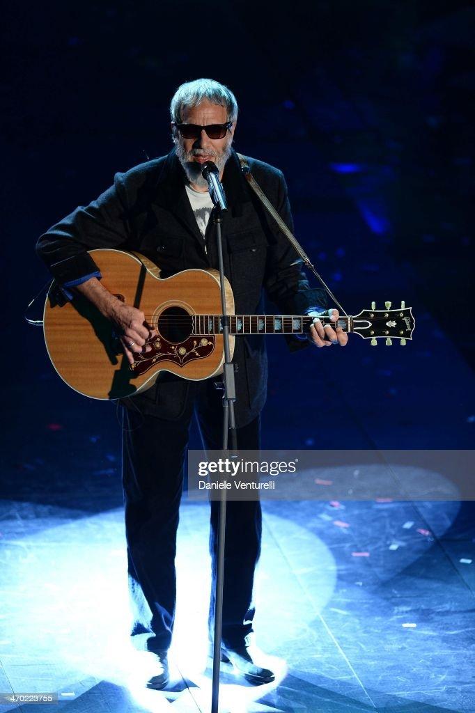 Yusuf Islam attends opening night of the 64th Festival di Sanremo 2014 at Teatro Ariston on February 18, 2014 in Sanremo, Italy.