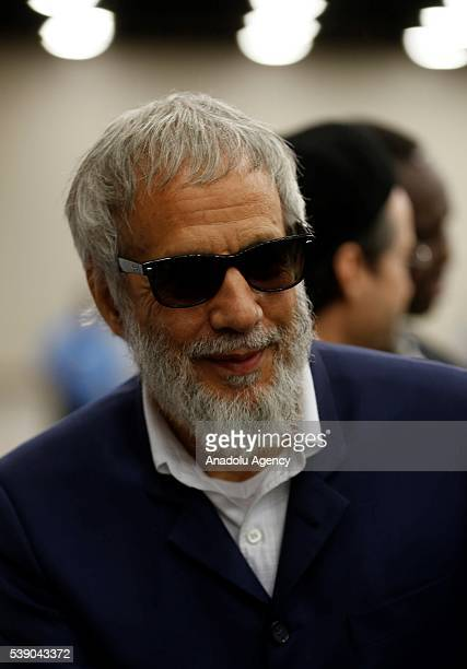 Yusuf Islam attends the Islamic prayer service for Muhammad Ali at the Kentucky Exposition Center on June 9 2016 in Louisville Kentucky The service...