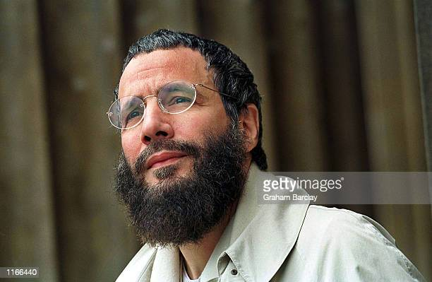 """Yusuf Islam, former folk singer Cat Stevens, poses for a photograph May 2000 in London, United Kingdom. Islam is a founding member of the """"Forum..."""