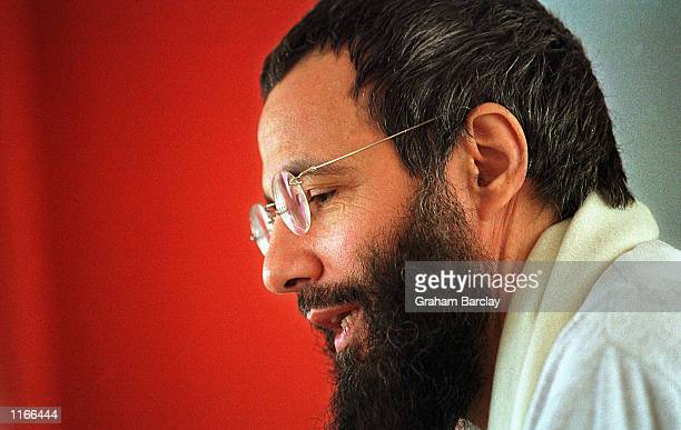Yusuf Islam former folk singer Cat Stevens poses for a photograph May 2000 in London United Kingdom Islam is a founding member of the Forum Against...