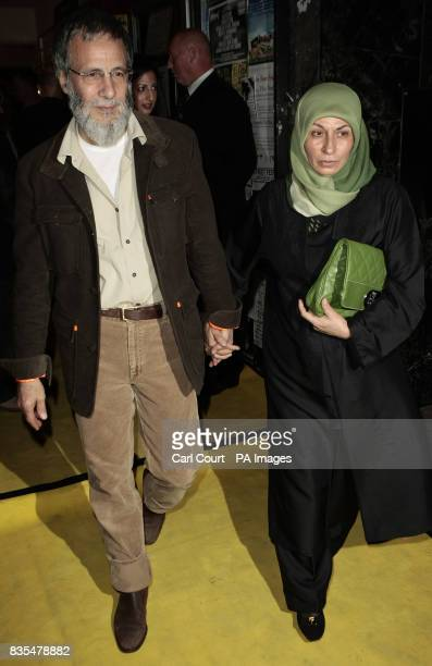 Yusuf Islam formerly known as Cat Stevens and his wife Fawzia Ali arrive at the Island Records 50th birthday celebrations at Phonica Records on...