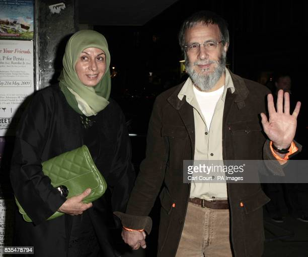 Yusuf Islam formerly known as Cat Stevens and his wife Fawzia Ali arrive the Island Records 50th birthday celebrations at Phonica Records on Poland...