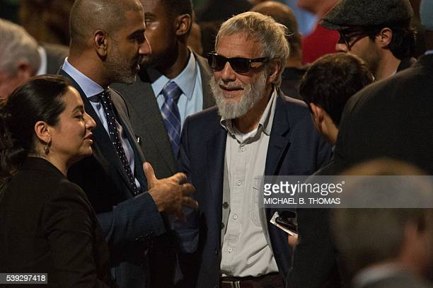 Yusuf Islam formerly known as Cat Stevens is seen in attendance during the memorial service for boxing legend Muhammad Ali at the KFC Yum Center on...