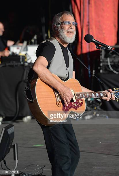 Yusuf Islam performs at the 2016 Global Citizen Festival In Central Park To End Extreme Poverty By 2030 at Central Park on September 24 2016 in New...