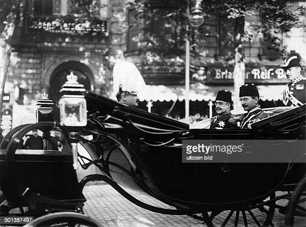 Yusuf Izzeddin Crown Prince of the Ottoman Empire son of Sultan Abdul Aziz The heir to the throne visiting Berlin Prince Yusuf in a coach on the way...