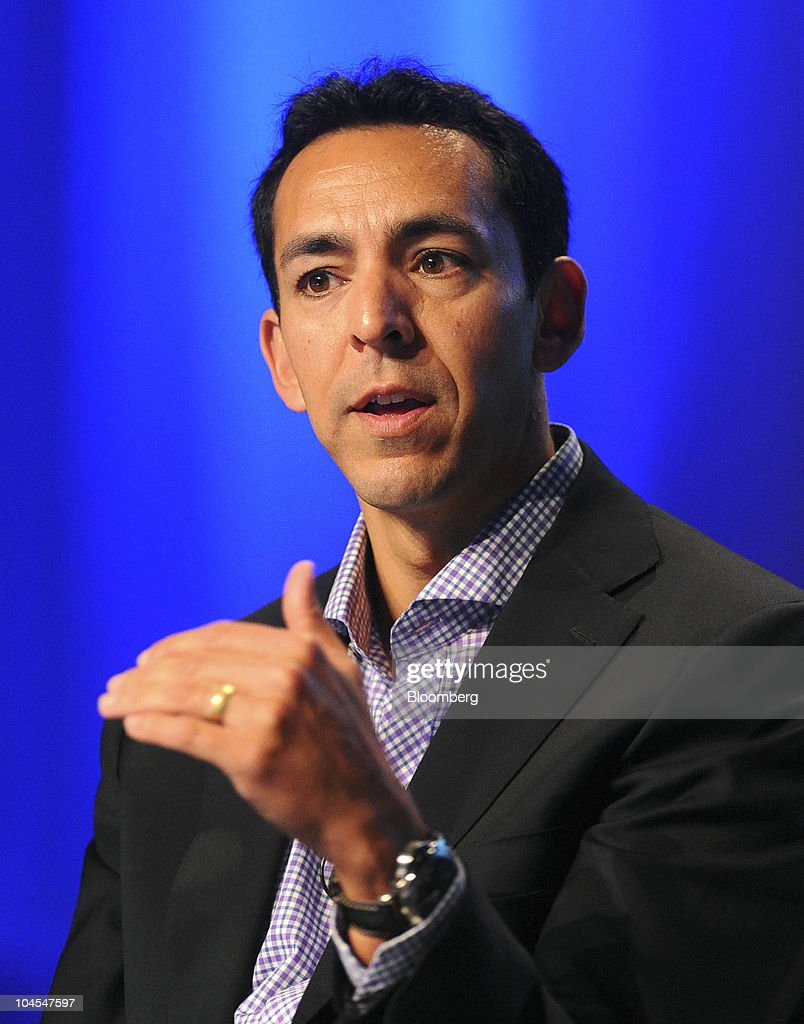 Yusuf Mehdi, senior vice president of online business audience for Microsoft Corp., speaks at the TechCrunch Disrupt conference in San Francisco, California, U.S., on Wednesday, Sept. 29, 2010. The conference concludes today. Photographer: Noah Berger/Bloomberg via Getty Images