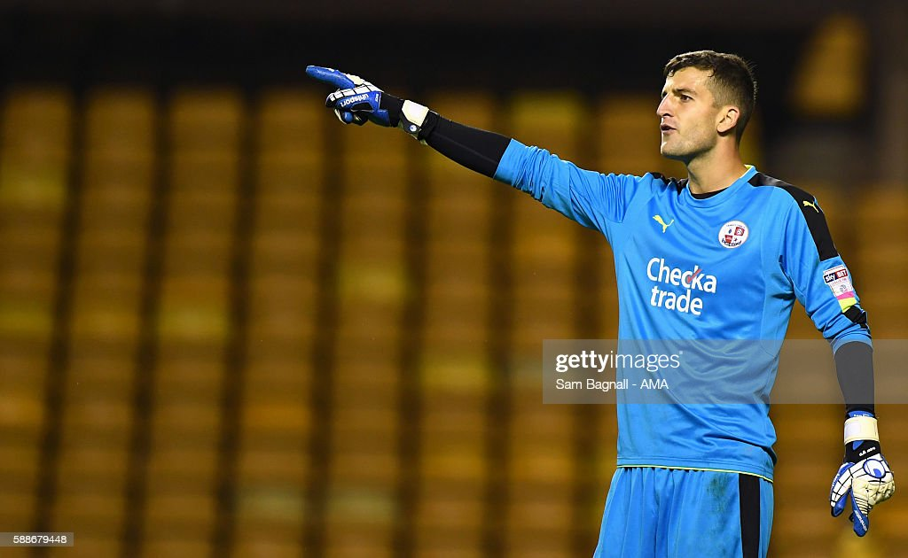 Yusuf Mersin of Crawley Town during the EFL Cup match between Wolverhampton Wanderers and Crawley Town at Molineux on August 8, 2016 in Wolverhampton, England.