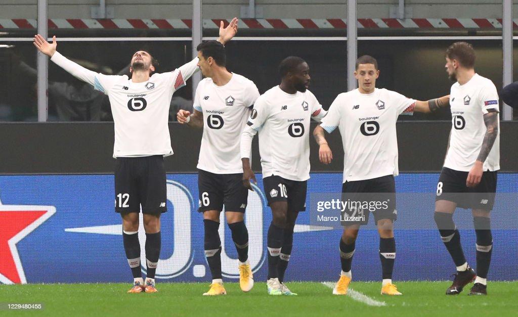AC Milan v LOSC Lille: Group H - UEFA Europa League : ニュース写真