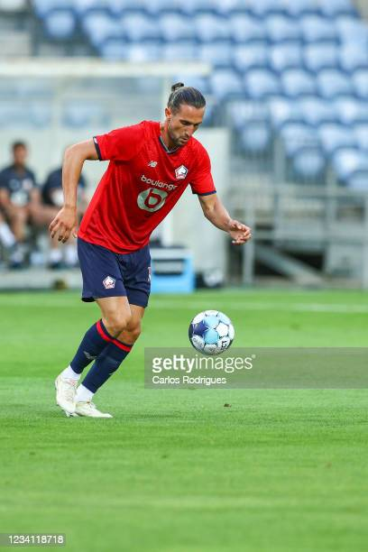 Yusuf Yazici of LOSC Lille during the Pre-Season Friendly match between SL Benfica and Lille at Estadio Algarve on July 22, 2021 in Faro, Portugal.