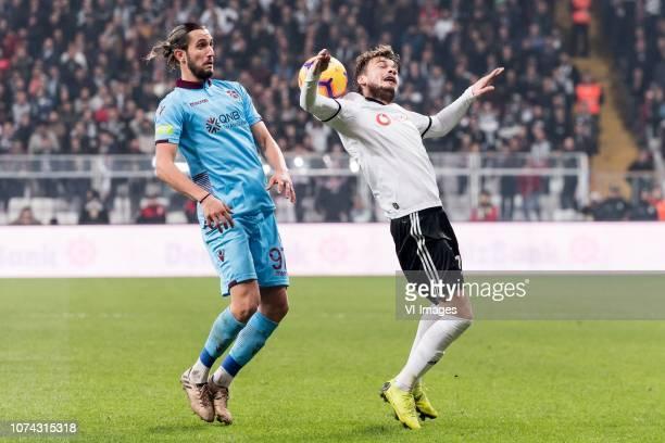 Yusuf Yazici of Trabzonspor Adem Ljajic of Besiktas JK during the Turkish Spor Toto Super Lig football match between Besiktas JK and Trabzonspor AS...