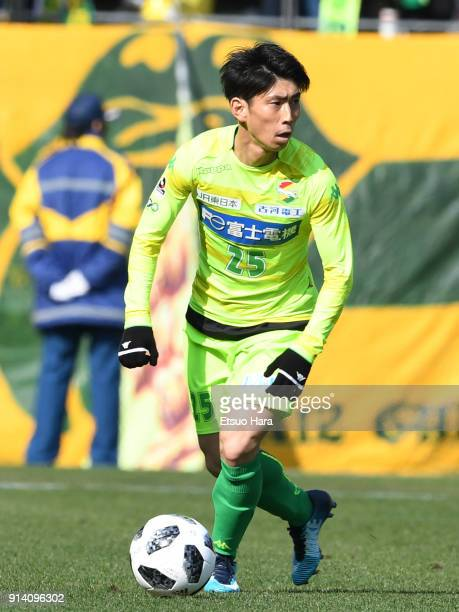 Yusuke Chajima of JEF United Chiba in action during the preseason friendly match between JEF United Chiba and Kashiwa Reysol at Fukuda Denshi Arena...
