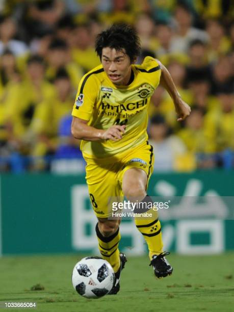 Yusuke Segawa of Kashiwa Reysol in action during the JLeague J1 match between Kashiwa Reysol and Shimizu SPulse at Sankyo Frontier Kashiwa Stadium on...