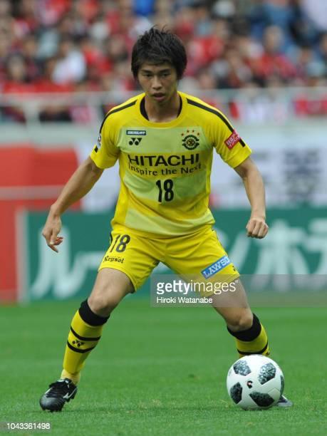 Yusuke Segawa of Kashiwa Reysol in action during the JLeague J1 match between Urawa Red Diamonds and Kashiwa Reysol at Saitama Stadium on September...