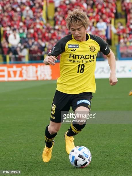 Yusuke Segawa of Kashiwa Reysol in action during the JLeague MEIJI YASUDA J1 match between Kashiwa Reysol and Consadole Sapporo at Sankyo Frontier...