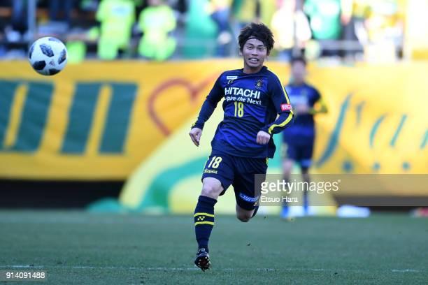 Yusuke Segawa of Kashiwa Reysol in action during the preseason friendly match between JEF United Chiba and Kashiwa Reysol at Fukuda Denshi Arena on...