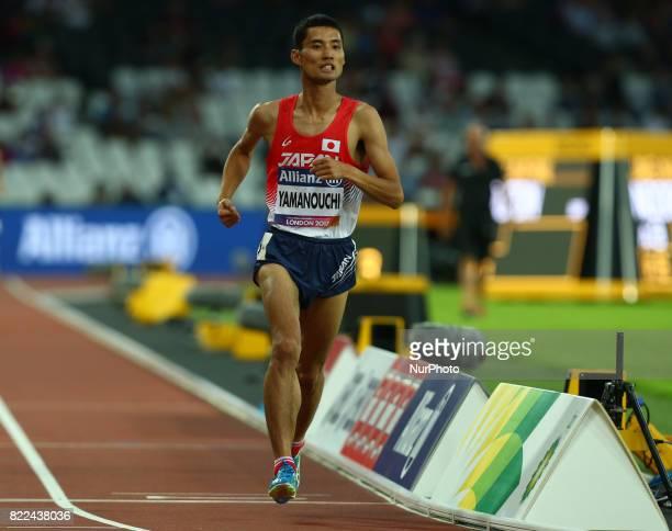 Yusuke Yamanouchi of Japen compete of Men's 1500m T20 Final during World Para Athletics Championships Day Three at London Stadium in London on July...