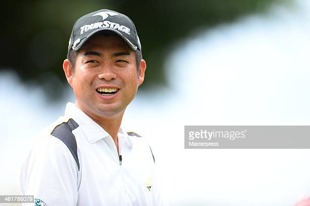 Yuta Ikeda of Japan in action during the proam round prior to the Sony Open in Hawaii at Waialae Country Club on January 8 2014 in Honolulu Hawaii