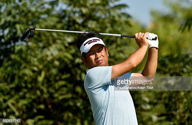 Yuta Ikeda of Japan plays during the ProAm event ahead of the Leopalace21 Myanmar Open at Pun Hlaing Golf Club on January 25 2017 in Yangon Myanmar