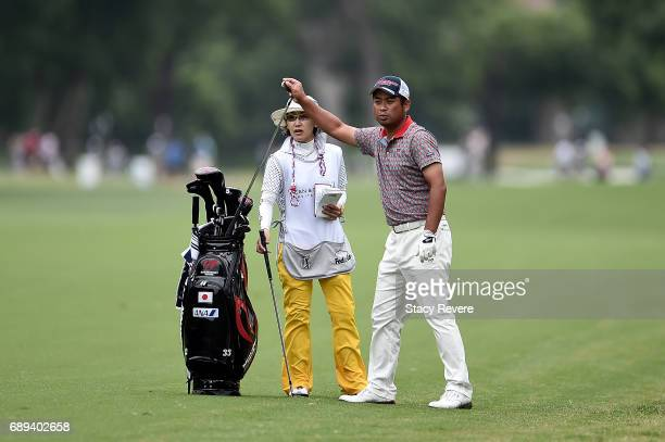 Yuta Ikeda of Japan plays his second shot on the 11th hole during the Final Round of the DEAN DELUCA Invitational on May 28 2017 in Fort Worth Texas