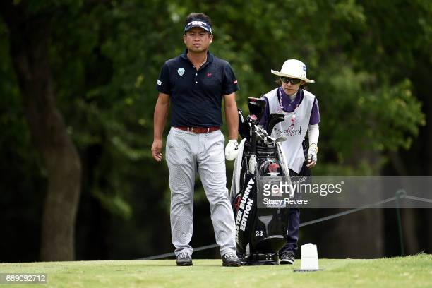 Yuta Ikeda of Japan plays his shot from the 12th tee during Round Three of the DEAN DELUCA Invitational at Colonial Country Club on May 27 2017 in...