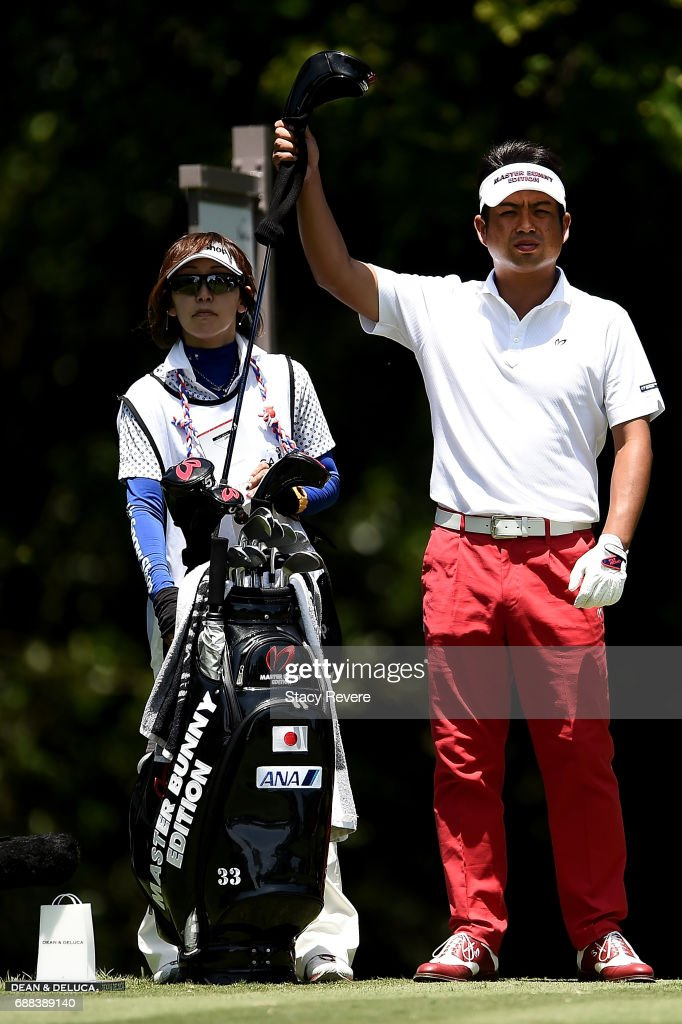 Yuta Ikeda of Japan plays his shot from the 12th tee during Round One of the DEAN & DELUCA Invitational at Colonial Country Club on May 25, 2017 in Fort Worth, Texas.