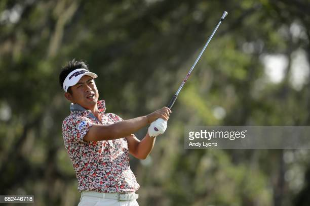 Yuta Ikeda of Japan plays his shot from the 12th tee during the second round of THE PLAYERS Championship at the Stadium course at TPC Sawgrass on May...