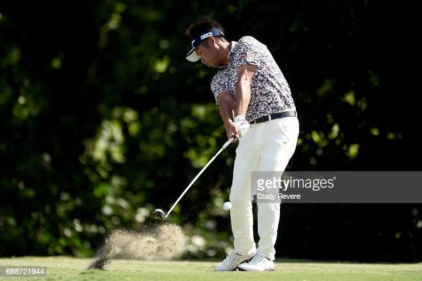 Yuta Ikeda of Japan plays his shot from the sixth tee during Round Two of the DEAN DELUCA Invitational at Colonial Country Club on May 26 2017 in...