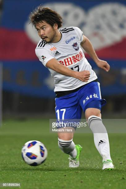 Yuta Ito of Albirex Niigata in action during the JLeague YBC Levain Cup Group A match between FC Tokyo and Albirex Niigata at Ajinomoto Stadium on...