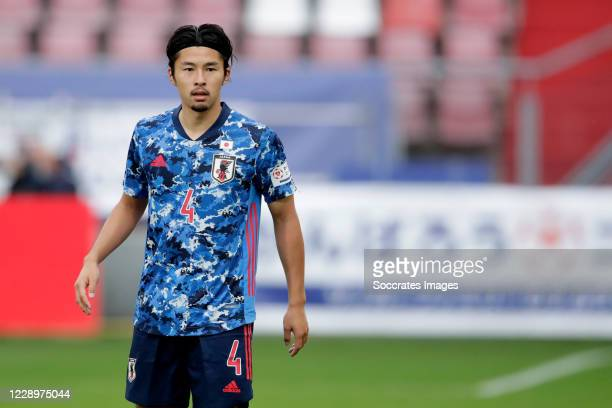 Yuta Nakayama of Japan during the International Friendly match between Japan v Cameroon at the Stadium Galgenwaard on October 9, 2020 in Utrecht...