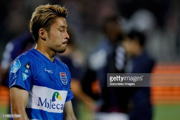 Yuta Nakayama of PEC Zwolle during the Dutch Eredivisie match between PEC Zwolle v Willem II at the MAC3PARK Stadium on August 2, 2019 in Zwolle...