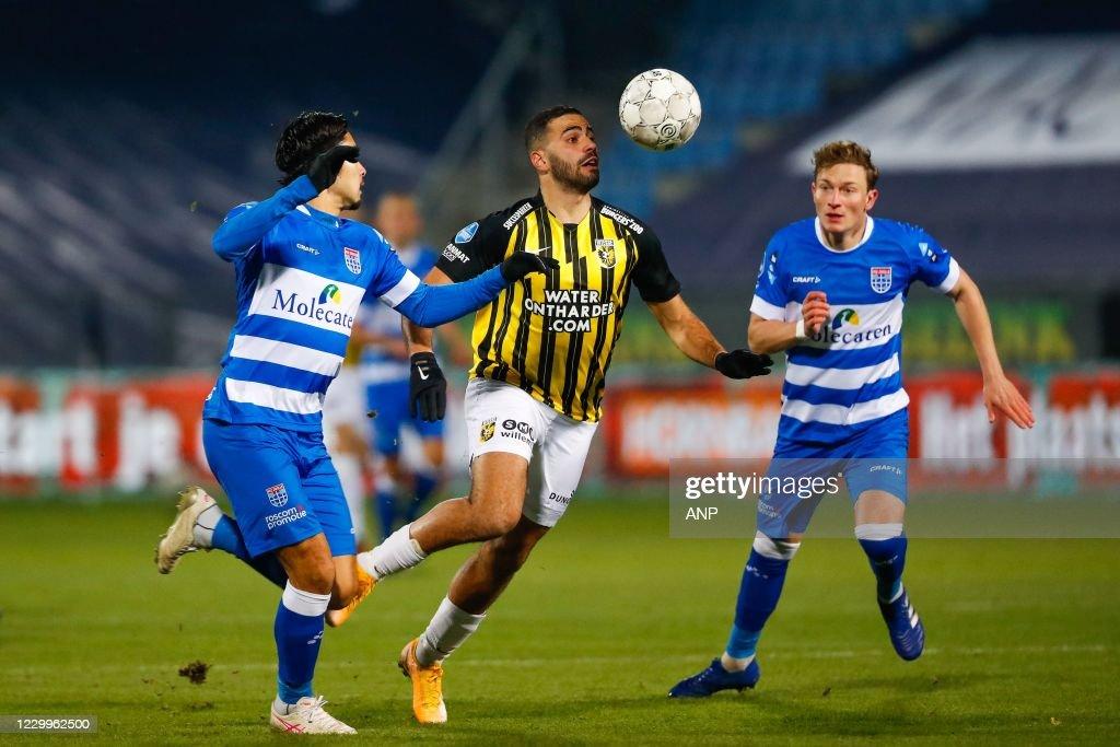 Zwolle Yuta Nakayama Of Pec Zwolle Oussama Tannane Of Vitesse News Photo Getty Images