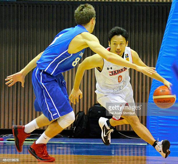 Yuta Tabuse of Japan in action during the basketball friendly match between Japan and the Czech Reublic at Yoyogi National Gymnasium on August 15...