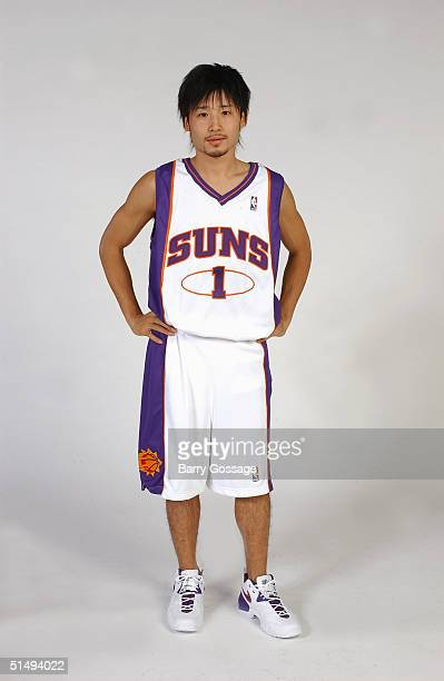 Yuta Tabuse of the Phoenix Suns poses for a portrait during NBA Media Day on October 4 2004 in Phoenix Arizona NOTE TO USER User expressly...