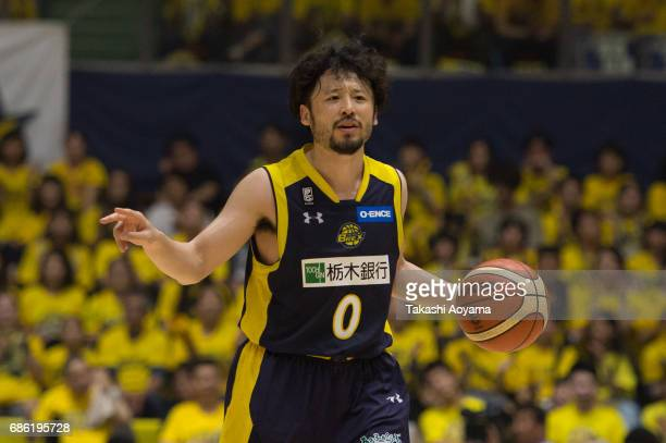 Yuta Tabuse of the Tochigi Brex dribbles the ball during the B League 2017 semi final match between Tochigi Brex and SeaHorses Mikawa at Utsunomiya...