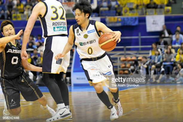 Yuta Tabuse of Tochigi Brex in action during the BLeague Championships quarter final game 2 between SeaHorses Mikawa and Tochigi Brex at Wing Arena...