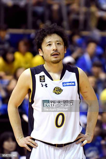Yuta Tabuse of Tochigi Brex reacts after his side's defeat in the BLeague Championships quarter final game 2 between SeaHorses Mikawa and Tochigi...
