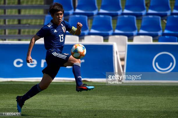 Yuta Taki of Japan controls the ball during the international friendly match between USA U20 and Japan U20 at Pinatar Arena on March 25 2019 in San...