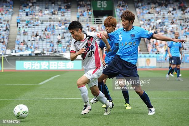 Yuta Toyokawa of Fagiano Okayama in action during the JLeague second division match between Yokohama FC and Fagiano Okayama at the Nissan Stadium on...