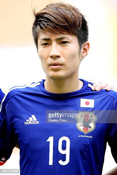 Yuta Toyokawa of Japan poses prior the AFC U23 Championship Qualifier Group I match between Japan and Macau at Shah Alam Stadium on March 27 2015 in...