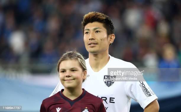 Yuta Toyokawa of Kas Eupen during the Jupiler Pro League match between Club Brugge KV and AS Eupen at Jan Breydel Stadium on August 16 2019 in Brugge...