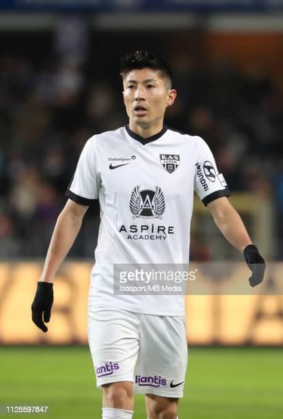 Yuta Toyokawa of Kas Eupen during the Jupiler Pro League match between RSC Anderlecht and KAS Eupen at Constant Vanden Stock Stadium on January 27...