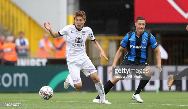 Yuta Toyokawa pictured in action during the Jupiler Pro League match between Club Brugge and KAS Eupen at Jan Breydel Stadium on July 29 2018 in...