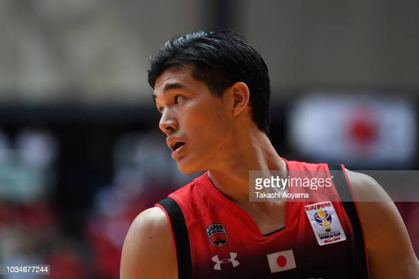 Yuta Watanabe of Japan looks on during the FIBA Men's World Cup Asian Qualifier 2nd Round Group F match between Japan and Iran at Ota City General...