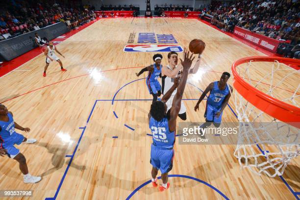 Yuta Watanabe of the Brooklyn Nets shoots the ball against the Oklahoma City Thunder during the 2018 Las Vegas Summer League on July 7 2018 at the...