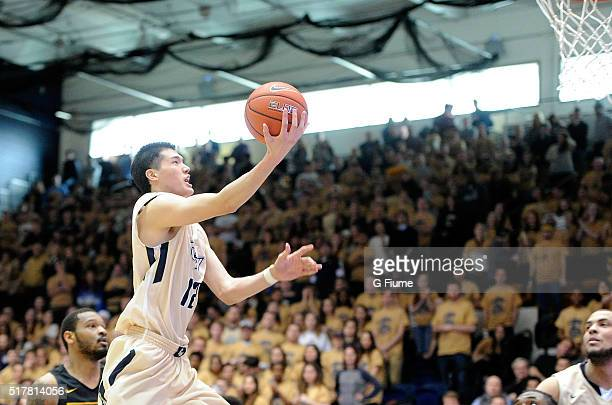Yuta Watanabe of the George Washington Colonials drives to the hoop against the Virginia Commonwealth Rams at the Charles E Smith Athletic Center on...