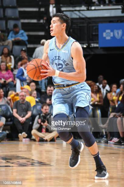 Yuta Watanabe of the Memphis Grizzlies dribbles the ball up court against the Phoenix Suns on October 27 2018 at FedExForum in Memphis Tennessee NOTE...